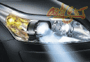 【常州晓东专业改灯】索纳塔升级立盯LED双光透镜 LED远光灯搭配蓝色示宽灯
